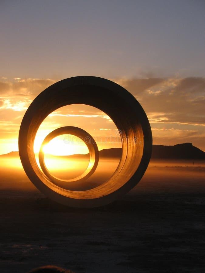 Hasta que finalice solsticio en los túneles de Sun imagen de archivo libre de regalías