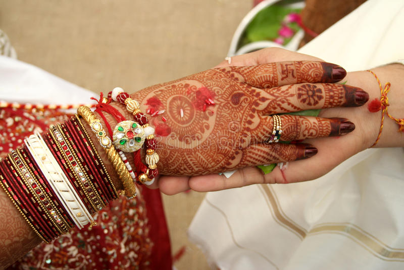 hastamelap indyjski małżeństwa rytuał obrazy royalty free