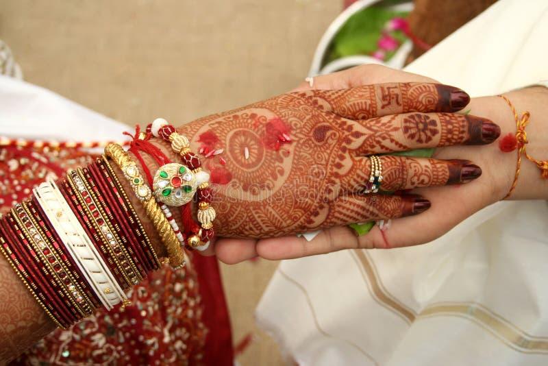 Hastamelap - um ritual indiano da união imagens de stock royalty free