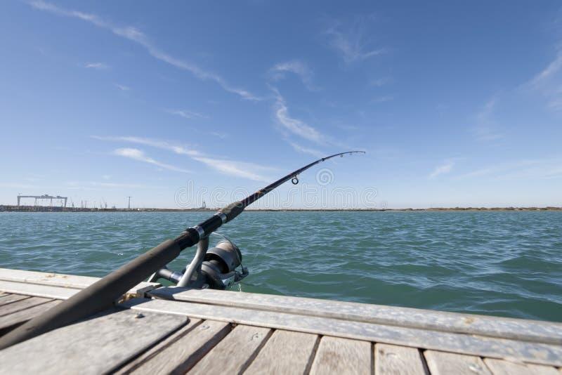 Haste de pesca foto de stock