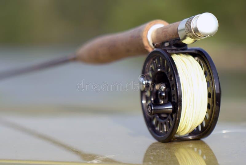 Haste de pesca com mosca para o pique fotos de stock royalty free