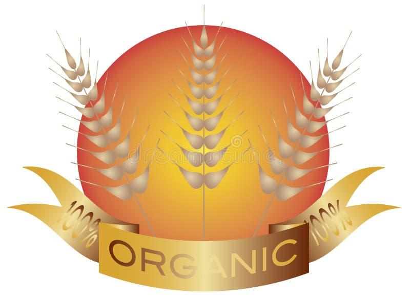 Haste do trigo com bandeira e Sun ilustração do vetor
