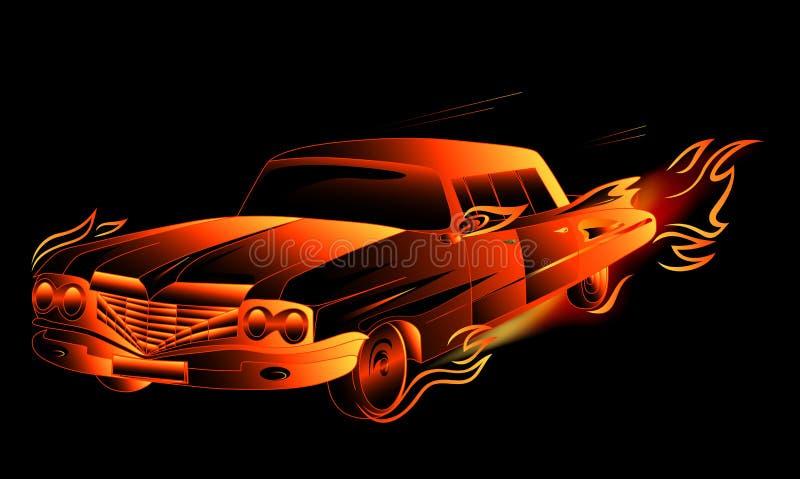 Haste quente ardente ilustração stock