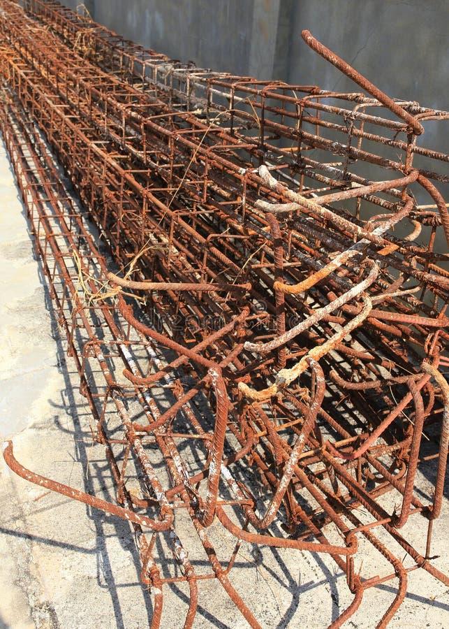 Hastes de aço usadas para reforçar o concreto imagem de stock royalty free