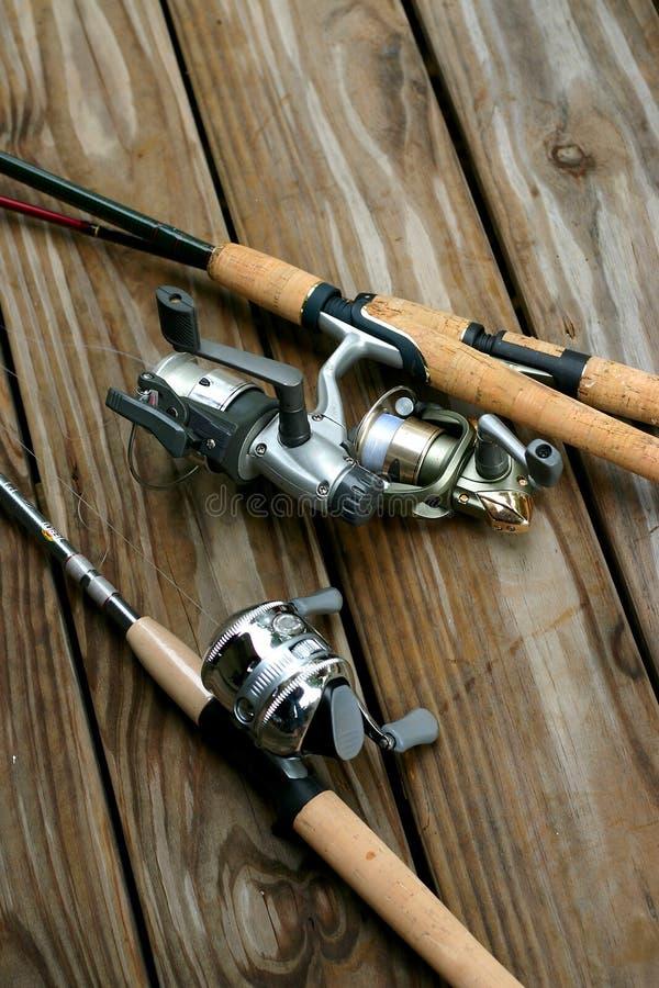 Hastes de pesca fotos de stock