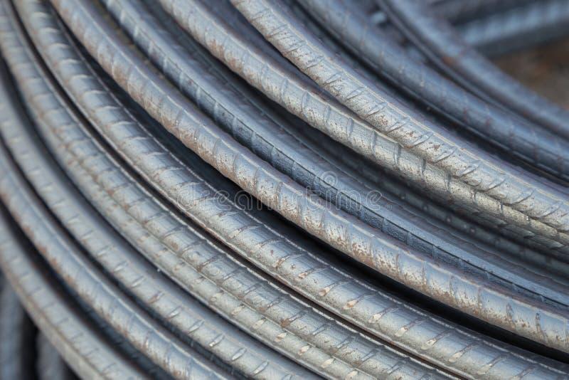 Hastes ou barras de aço para a construção fotos de stock