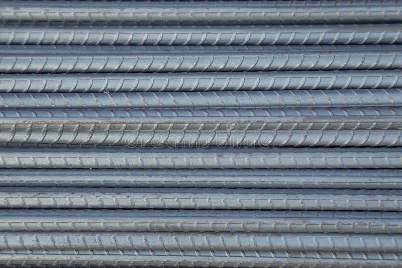 Hastes ou barras de aço para a construção imagem de stock