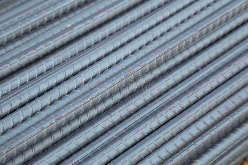 Hastes ou barras de aço para a construção fotografia de stock royalty free