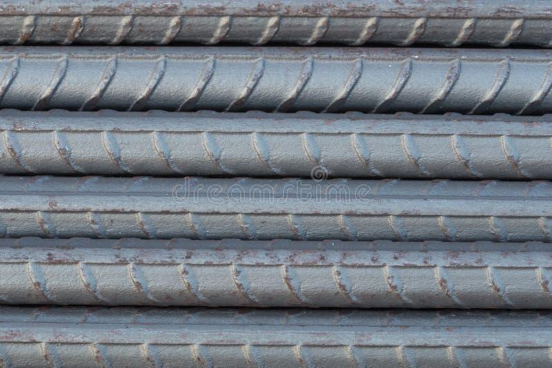 Hastes ou barras de aço para a construção imagens de stock royalty free