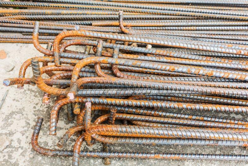 Hastes ou barras de aço usadas para reforçar foto de stock
