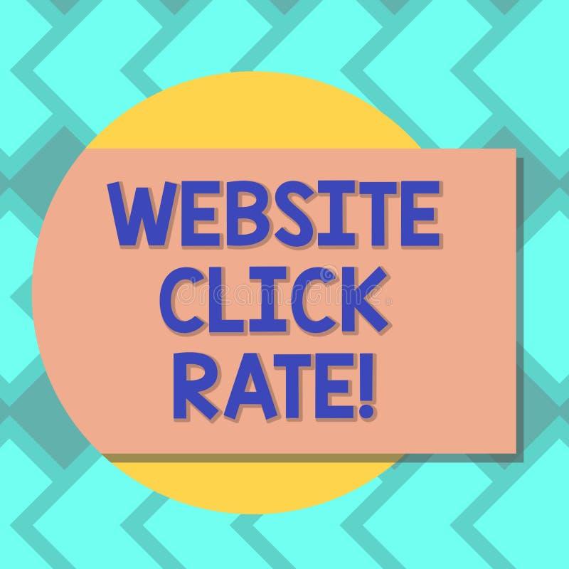 Hastighet för klick för Website för textteckenvisning Begreppsmässiga fotoförhållandeanvändare, som klickar specifik sammanlänkni stock illustrationer