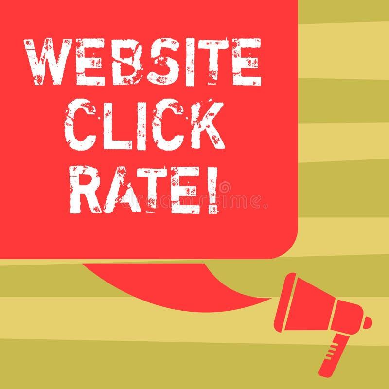 Hastighet för klick för Website för textteckenvisning Begreppsmässiga fotoförhållandeanvändare som klickar specifik sammanlänknin vektor illustrationer