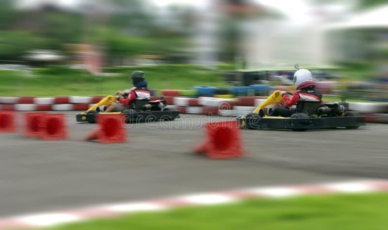 Hastighet går carting, snabbt abstrakt begrepp royaltyfri fotografi