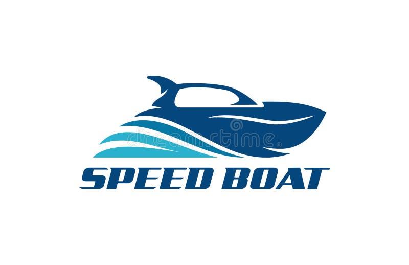 Hastighetsfartyg Logo Design royaltyfri illustrationer