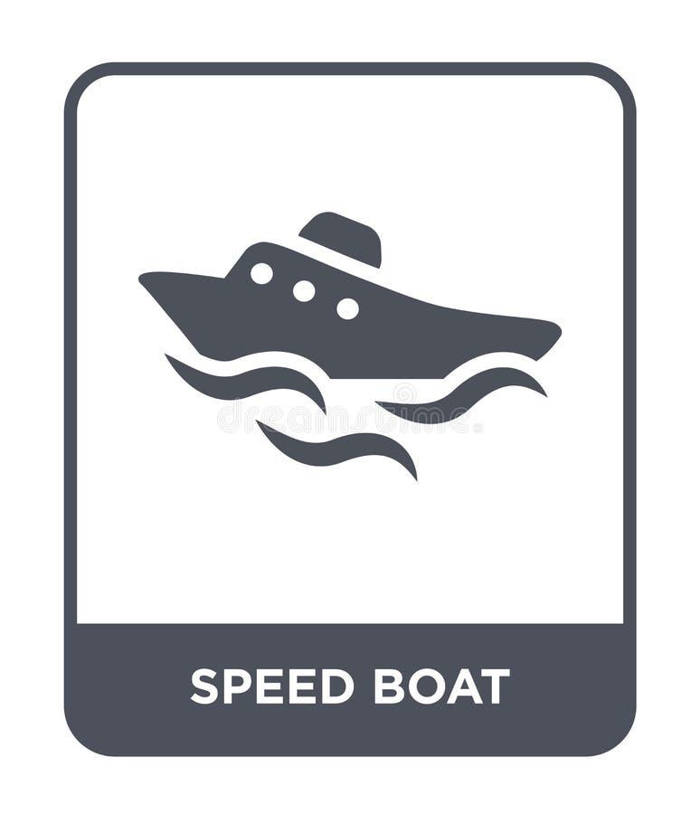 hastighetsfartygsymbol i moderiktig designstil hastighetsfartygsymbol som isoleras på vit bakgrund modern symbol för hastighetsfa vektor illustrationer