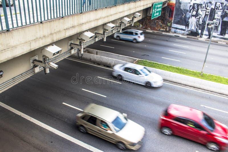 Hastighetskontrollradar arkivbild