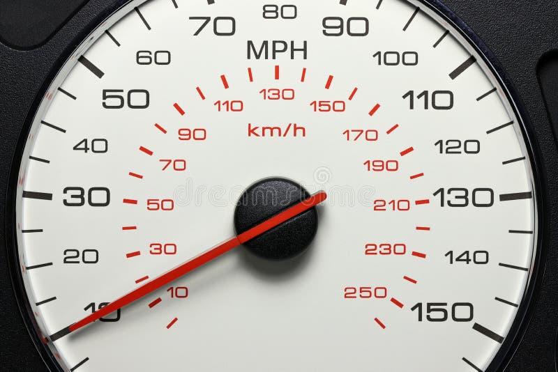 Hastighetsmätare på 10 MPH royaltyfri bild
