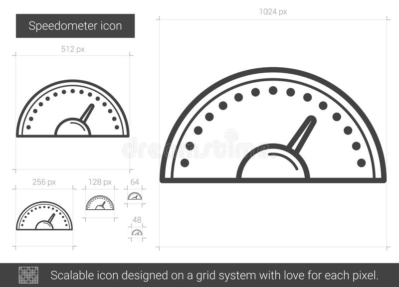 Hastighetsmätarelinje symbol royaltyfri illustrationer