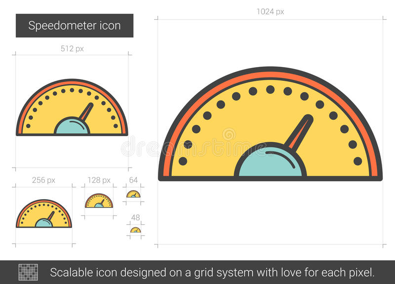 Hastighetsmätarelinje symbol vektor illustrationer