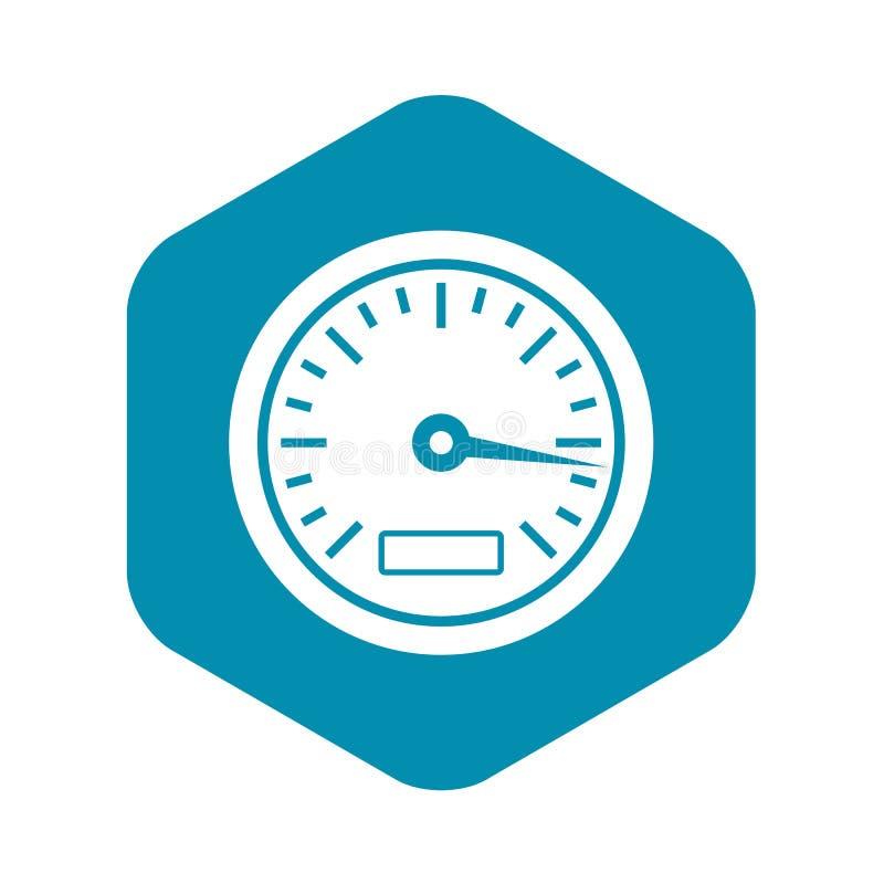 Hastighetsm?taresymbol, enkel stil stock illustrationer