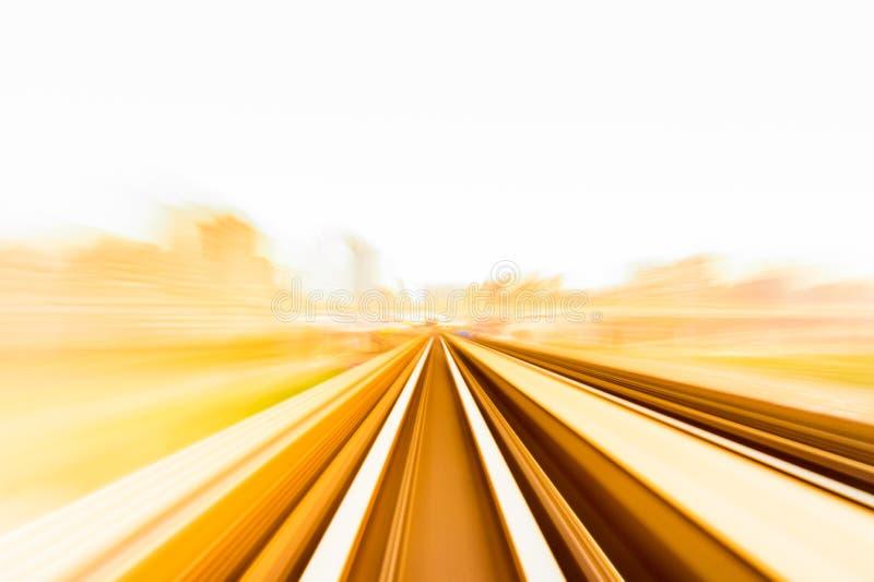 Hastighetsrörelse i stads- huvudvägvägtunnel stock illustrationer