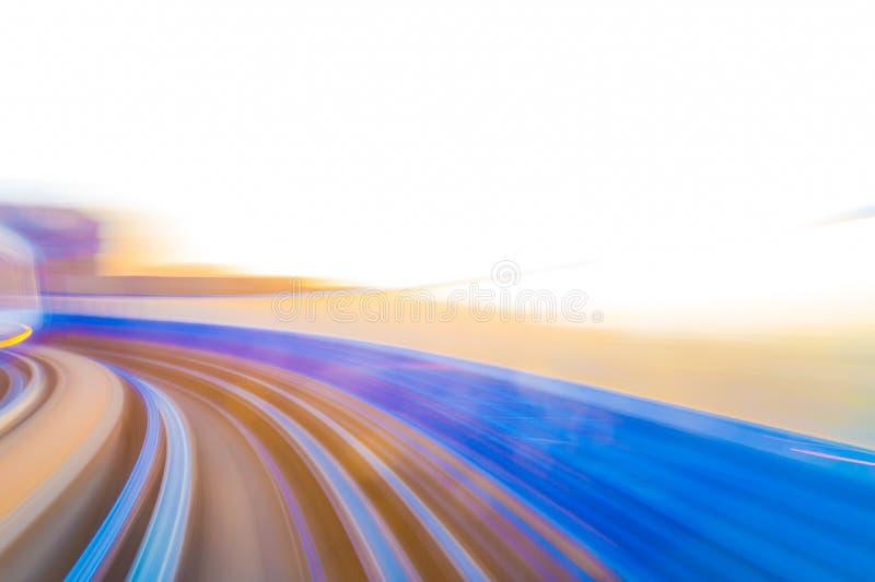 Hastighetsrörelse i stads- huvudvägvägtunnel vektor illustrationer
