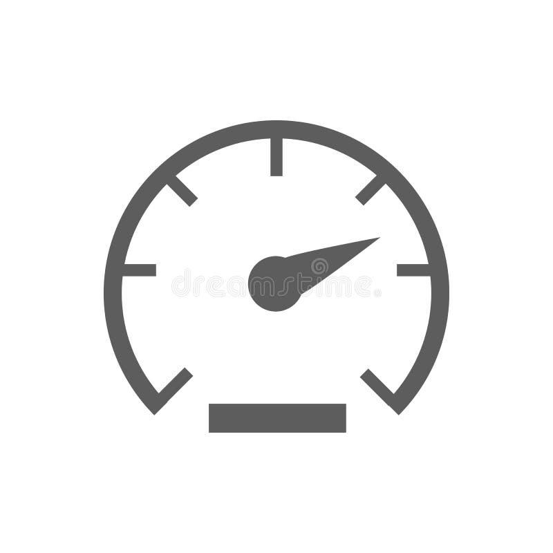 Hastighetssymbolsvektor stock illustrationer