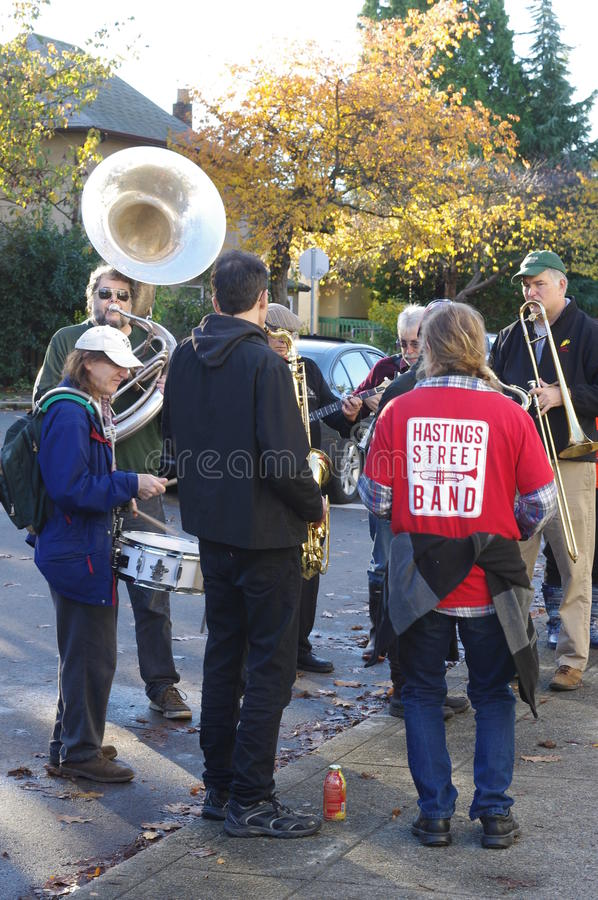 Hasting Street Band royalty free stock photo