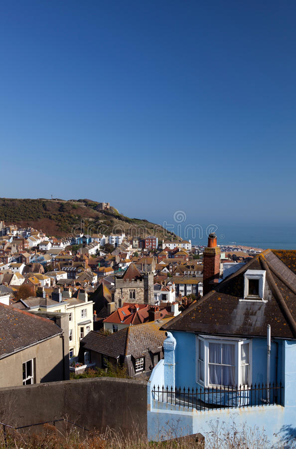 Hastings Ansicht-Haus-Stadtbild stockfotos