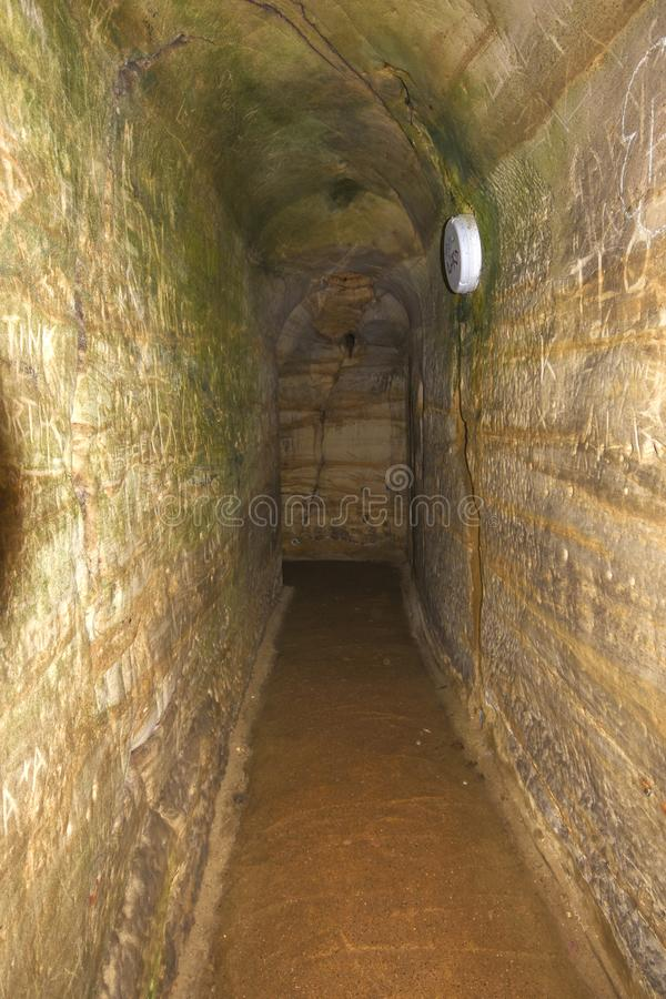 Hastings Castle Dungeons royalty free stock images