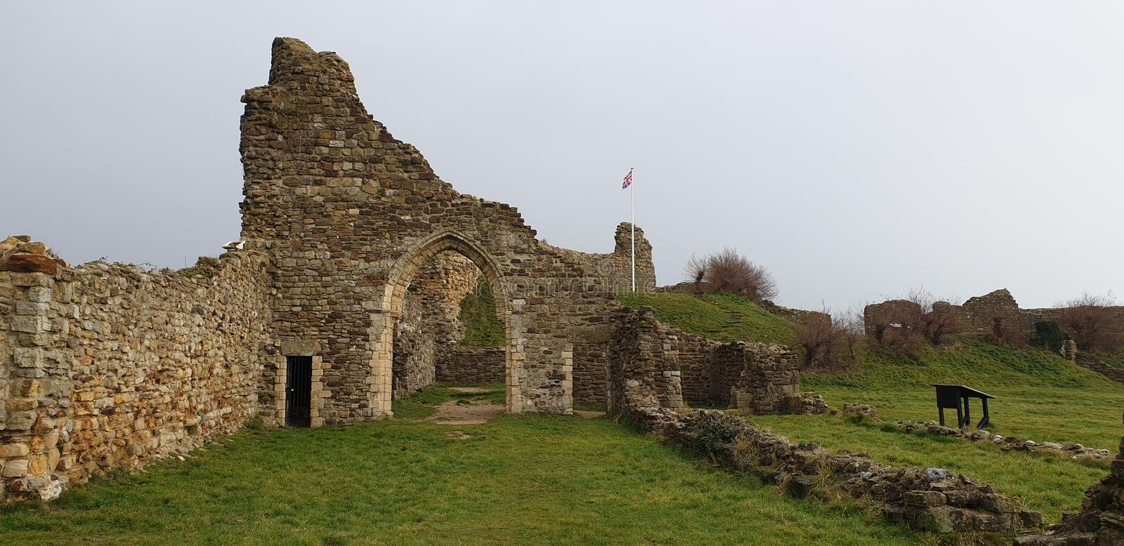 Hastings Castle royalty free stock photo