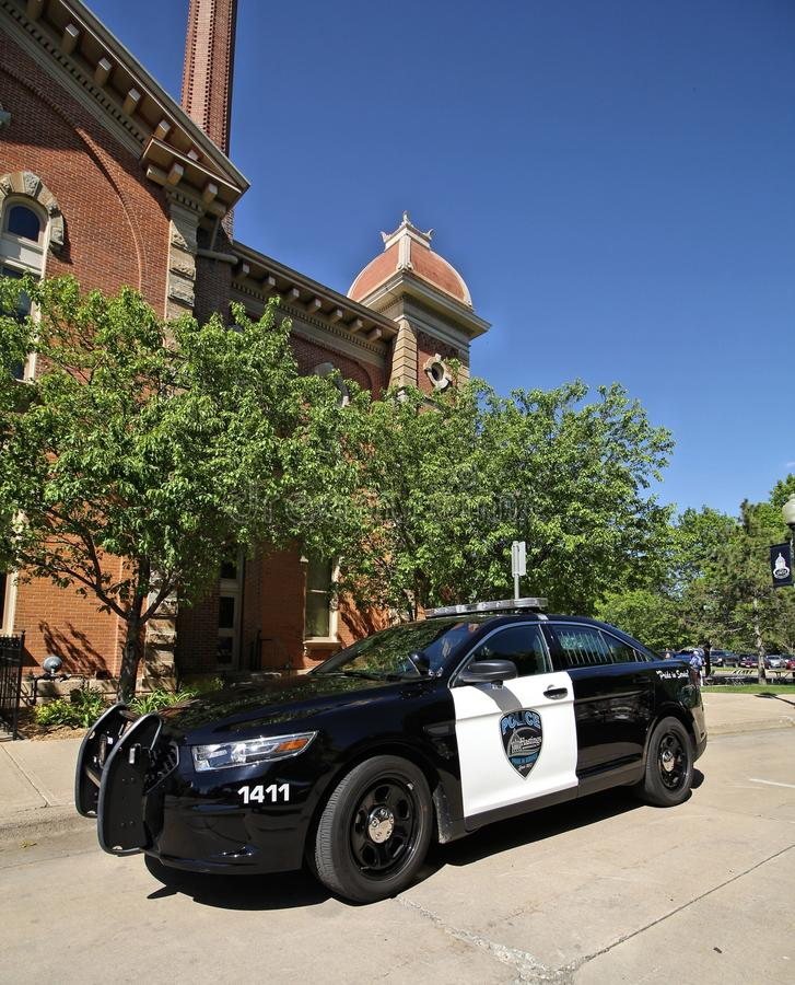 Hastings, coche policía de Minnesota fotografía de archivo