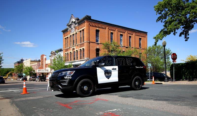 Hastings, coche policía de Minnesota imagen de archivo libre de regalías