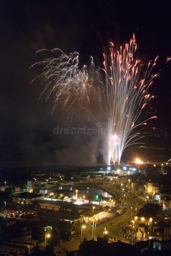 Download Hastings Fireworks 2008 stock image. Image of celebration - 6778051