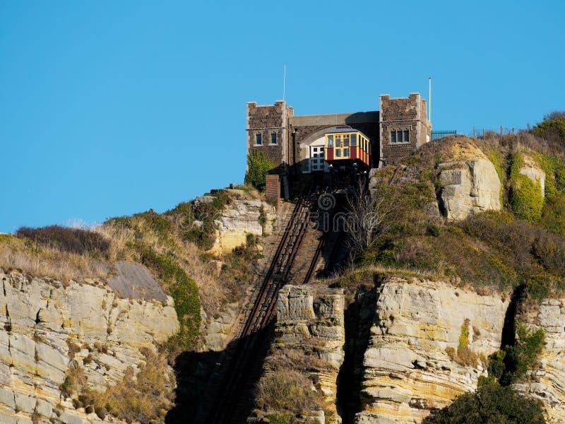 HASTINGS, HET OOSTEN SUSSEX/UK - 06 NOVEMBER: De Heuvel Kabelrai van het oosten stock afbeelding
