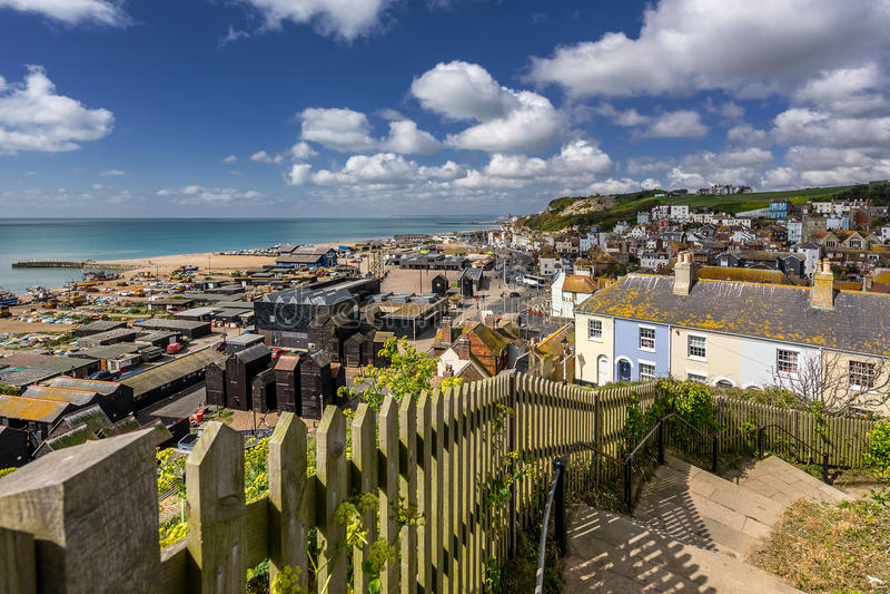 Hastings i Sussex royaltyfria foton