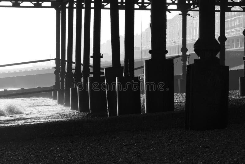 Hastings-Pier lizenzfreie stockbilder