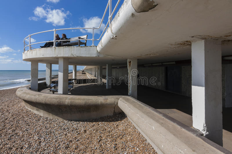 Hastings promenade royalty free stock photography