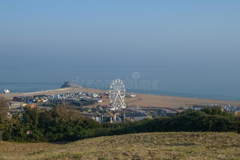 Hastings Seafront royaltyfria foton