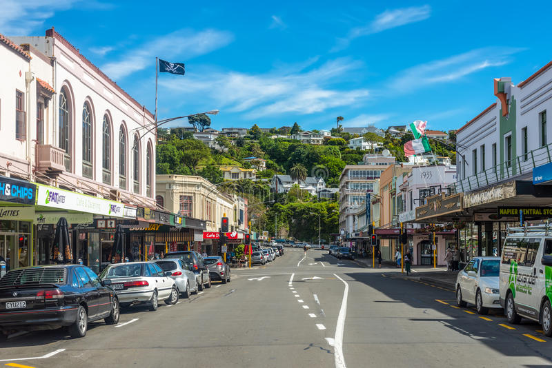 Hastings St. Napier Neuseeland stockbild