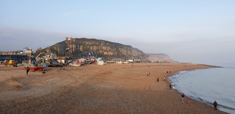 Hastings vid havet arkivfoto