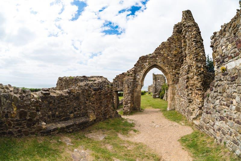Hastingskasteel stock foto's