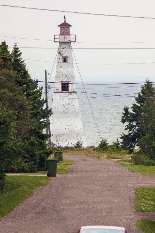 Haszard-Punkt-Strecke Front Lighthouseon Prince Edward Island lizenzfreie stockbilder