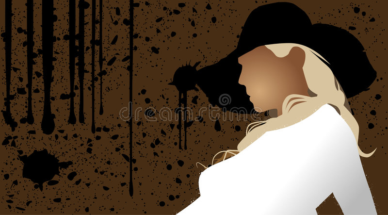 Download Hat stock illustration. Image of face, complexion, dress - 3747132