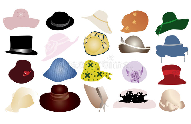 Download Hat stock vector. Image of cowboy, icon, beret, body, hair - 9663278