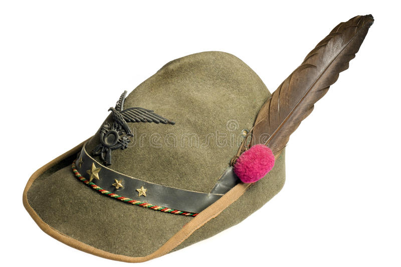 The hat of Alpini stock image