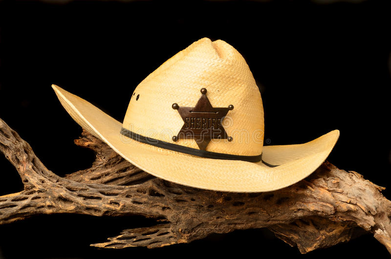 Hat and Badge royalty free stock photo