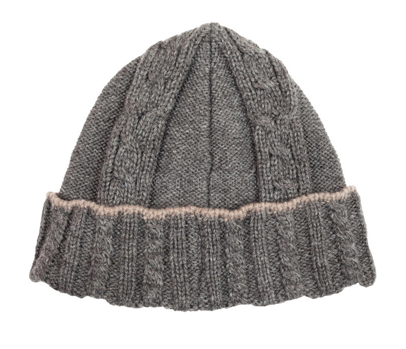 Hat beanie wool. Isolated on white royalty free stock photos