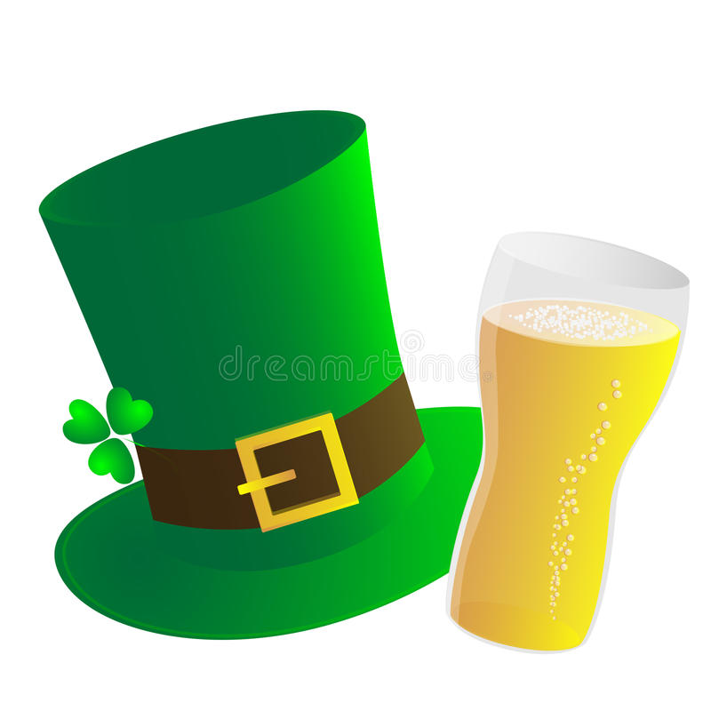Hat And Beer Stock Photo