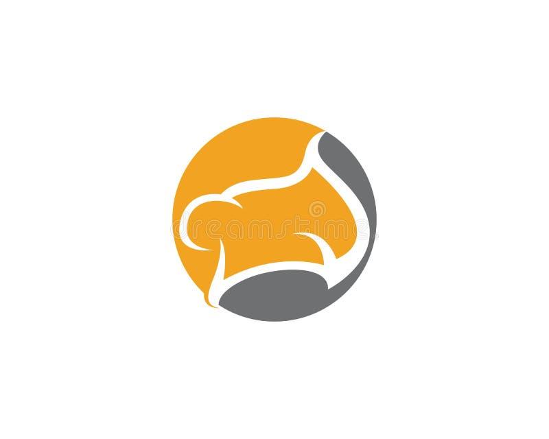 Hat Chef logo symbol template royalty free illustration
